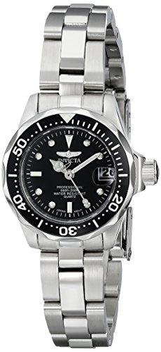 Invicta 8939 Pro Diver Reloj para Mujer acero inoxidable Cuarzo Esfera negro