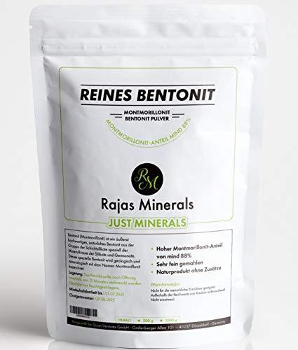 Startpreis! Bentonit-Pulver 1 Kg extra fein (Montmorillonit-Anteil mind 88%) natürliche Detox Mineralerde in Premium Qualität (1000 g)