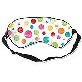 Augenmaske Vintage Retro Watercolor Colorful Polka Dot Schlafmaske verstellbar atmungsaktiv Schlafmaske Augenmaske