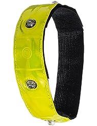 LED-Armband Sicherheitsband mit 4 hellen LEDs | XXL 49x3cm | Neuste Version 2016 | Movoja® | Reflektor-Band Reflex-Armband Joggerband Sicherheitsarmband Fahrrad Sicherheit LED Sicherheitslicht