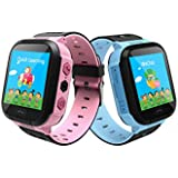 Sekyo Kids Tracker Smart Watch Waterproof, Touch Screen Mobile Smart Watches for Girls Boys, SOS Anti-Lost Sim Card…