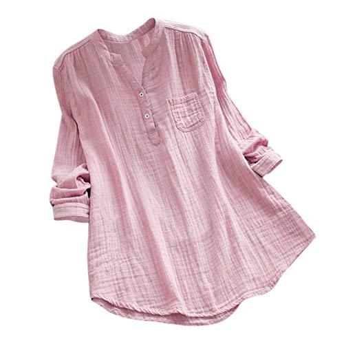 iHENGH Damen Bequem Mantel Lässig Mode Jacke Frauen Frauen mit Langen Ärmeln Vintage Floral Print Patchwork Bluse Spitze Splicing Tops(Rosa-a, ()