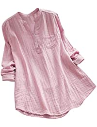 Morwind Camisetas Mujer, Camisas Mujer de Vestir Blusas de Moda túnica vaporosa de Manga Larga
