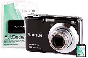 Fuji FinePix AX650 Camera Kit with 4GB SD Card and Multi Card Reader - Black
