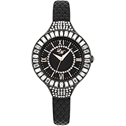 Little Mistress Women's Quartz Watch with Black Dial Analogue Display and Black PU Strap LM012