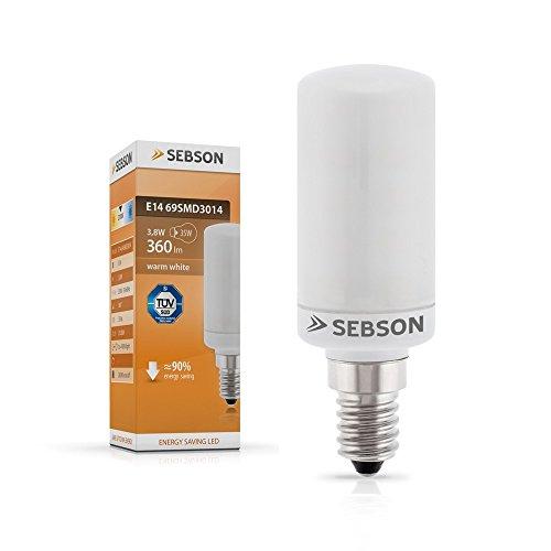 Preisvergleich Produktbild SEBSON E14 LED 3,8 W Lampe Matt – vgl. 35W Glühlampe – 360 Lumen – E14 LED warmweiß – LED Leuchtmittel 160°