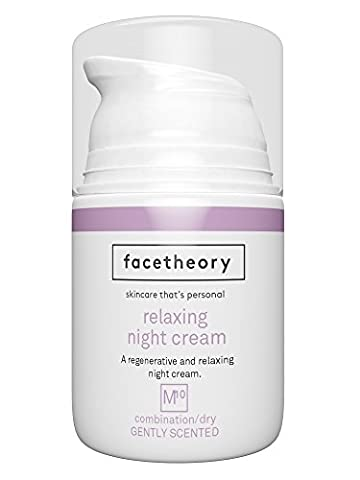 Facetheory Night Cream with Hyaluronic Acid and Vitamin C. Hydrating Anti Aging Moisturiser Fights Fine Lines and Wrinkles. (50ml Gently Fragranced with Lavender)