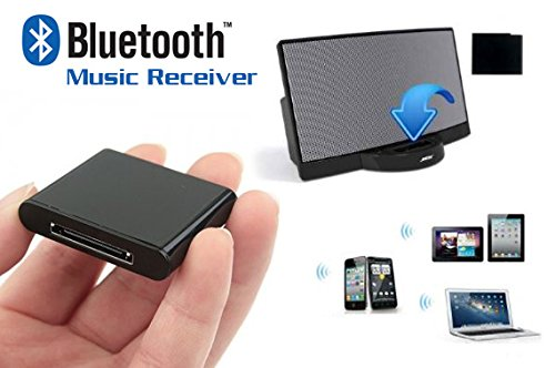 Wireless Bluetooth A2DP Musik Empfänger für 30pin iPod iPad iPhone Dock Lautsprecher - AUDIO VERLÄNGERUNG Musik Adapter für iPhone 6/6 Plus/4 4S iPhone 5/iPad Das neue iPad (iPad 4) Mini iPad/iPod iPod Touch/Bluetooch Handy/Bluetooth PC (Dock Iphone 4s Lautsprecher)