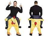 ALSINO Huckepack Kostüm Lustiges Step-In Huhn Chicken Schnelles Reinschlüpfen Ideal für Parties und Junggesellenabschiede