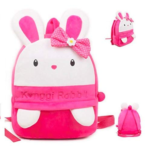 Frantic Soft Pink Konggi Rabbit Velvet Plush Bag for Kids