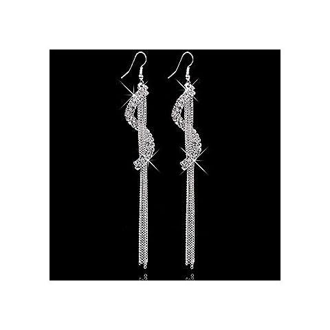 BestOfBijoux® Bijoux Femme Boucles D'Oreilles Pendantes Alissa White