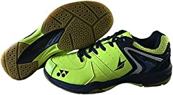 Yonex Badminton Non Marking Shoes - 9 UK, Lime Green/Blue