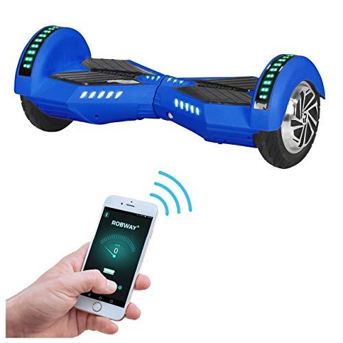 Robway W2 Hoverboard - Das Original - Samsung Marken Akku - Self Balance - Bluetooth - 2 x 350 Watt Motoren - 8 Zoll Räder (Blau Matt)