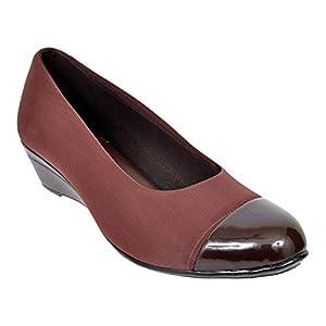 Altek Brown Synthetic Formal Shoe For Women (Size : 37 Euro, 7 Ind/Uk) Model: ALTEK_13_306