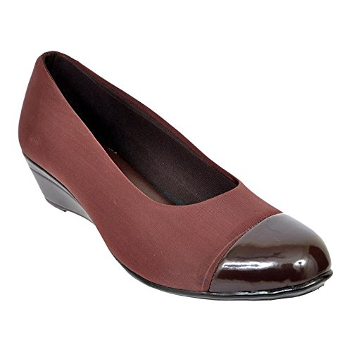 Altek Brown Synthetic Formal Shoe For Women (Size : 37 Euro, 7 Ind/Uk) Model: ALTEK_13_306