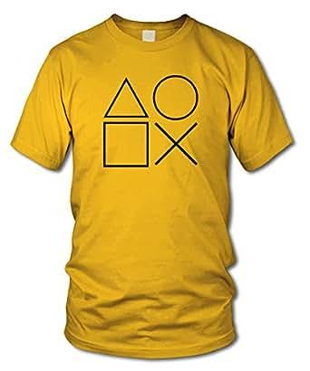 GAMING SYMBOLS - KULT - Fun T-Shirt - Gelb (Schwarz) - Größe S