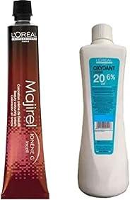L'Oreal Paris Majirel Hair Cream No.4.15 Tube + Developer 20 Vol. 6% Hair Color (Ash Mahogany Br
