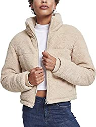 Urban Classics Damen Ladies Boxy Sherpa Puffer Jacket Jacke, Braun (Darksand 00806), Medium