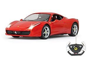 Jamara- Ferrari 458 Italia Vehículos de Control Remoto, Color Rojo (404305)