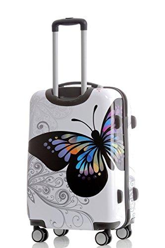 BEIBYE 2060 Polycarbonat Hartschale Koffer Trolley Reisekoffer Butterfly M -