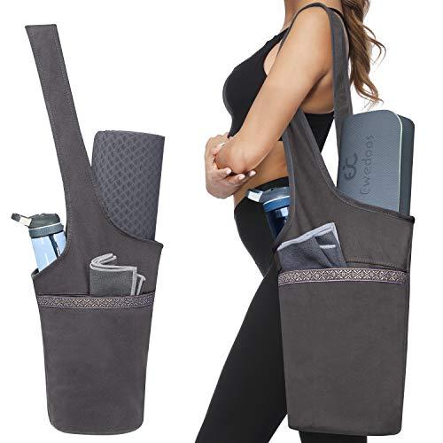 Ewedoos Yoga Taschen aus Baumwoll-Canvas für meisten yogamatte & Yoga-Zubehör
