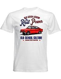 Teesandengines SKODA 110R Camiseta blanca para hombre de algodon
