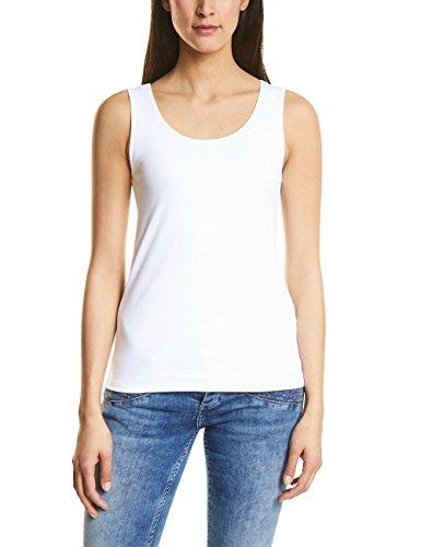 Street One Damen Top 312070 Gania, Weiß (White 10000), 42 (Weißes Shirt Ärmelloses Tank-top)