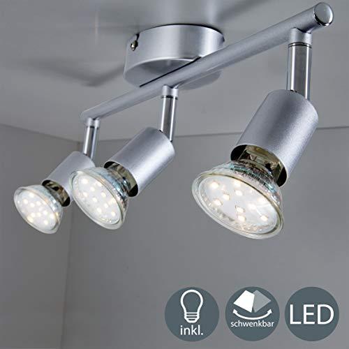 B.K.Licht Lámpara de Techo Orientable, de Cocina, Focos Giratorios, Incluye 3 Bombillas...