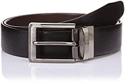 Lino Perros Mens Leather Belt (8903421288533_LMBE00256_105_Black and Brown)