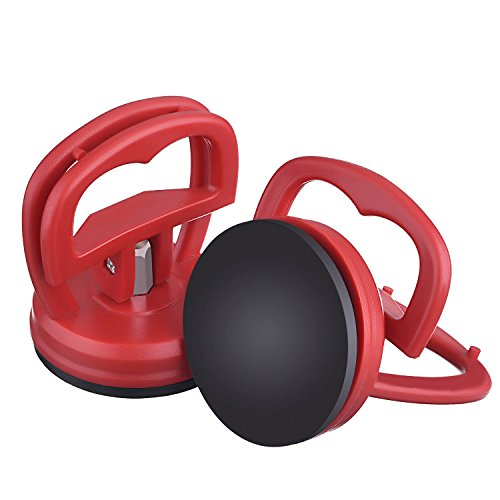 2 pezzi 5.5 cm estrattore ammaccatura auto dent aspirazione auto body dent puller strumento di rimozione (rosso)