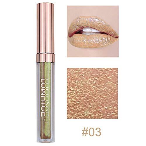 Aktionspreis,Lippenstift,PorLous Neu Beliebt Schönheit Mode Lippenlippenstift Kosmetik Frauen Sexy Wasserdichte Lippen Metallic Lipgloss Feuchtigkeitsspendend 3