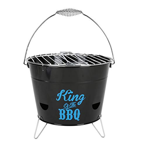 Grilleimer Ø28cm Campinggrill Picknickgrill Eimergrill Partygrill Balkongrill, Variante:King of The BBQ