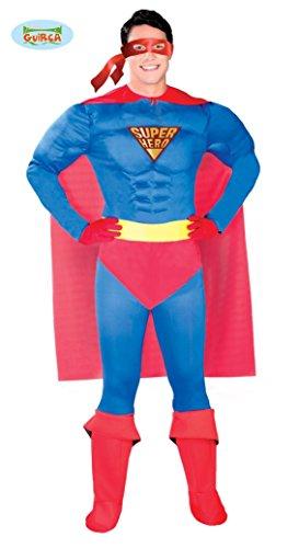 (Super Hero Kostüm für Herren Karneval Fasching Superheld Reporter Umhang Gr. M-XL, Größe:L)