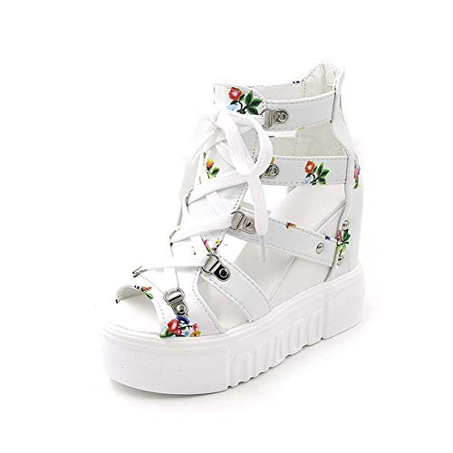 Summer New Roman Shoes Waterproof Platform Thick Bottom Sponge Cake Hollow Comfortable Wedge with Women's cool Shoes