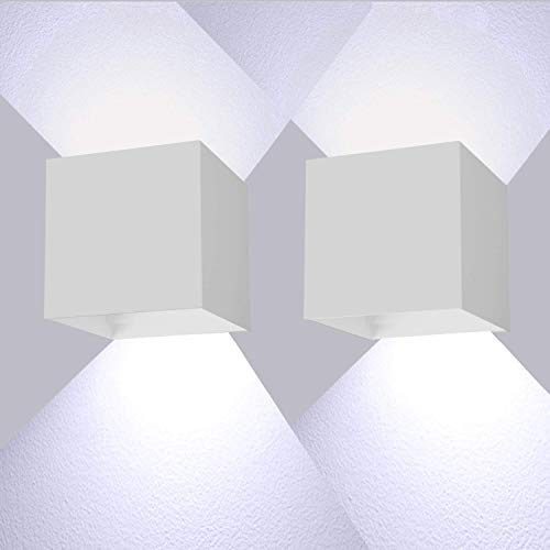 Lámpara de pared LED de 12 W, iluminación de pared, iluminación exterior, con ángulo de dispersión...