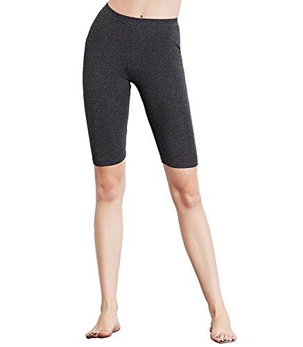 Ultra Dünne Baumwolle (Liang Rou Damen Kurze Leggings Mini-gerippt Elastisch Ultra-dünn)