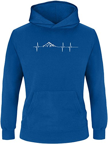EZYshirt® Skifahren | Berg Frequenz | Snowboard Freestyle Winter Kinder Hoodie (Burton Kinder Snowboard Bindung)