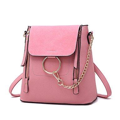 Damenmode Barrel PU Leder Messenger Umhängetasche Blushing Pink