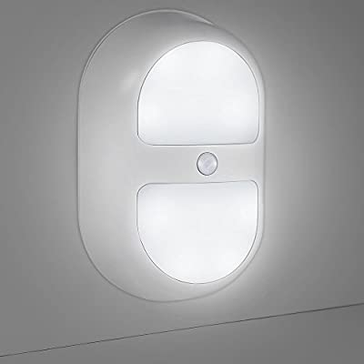 Veepeak Battery Operated LED Night Light Motion Sensor Light, Stick on Anywhere Wireless Motion Activated Wall Light/ Step Light / Closet Light/ Cabinet Light with On/Off/Auto Switch - low-cost UK wall light store.