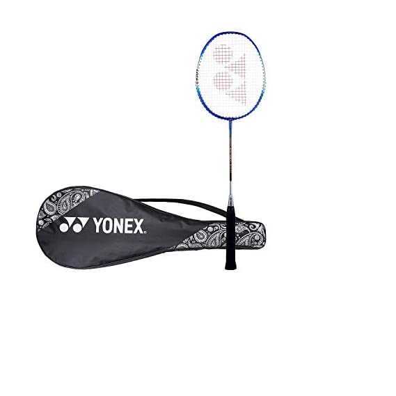 Yonex ZR 100L Aluminum Strung  Badminton Racquet with Full Cover (Blue)
