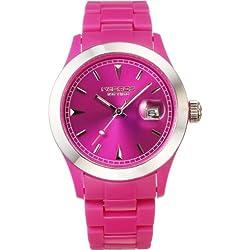 K & BROS Unisex 9539-3 Ice-Time Farbe Zeit Violet Uhr