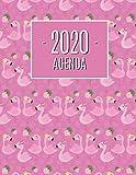 Fenicottero Agenda 2020: Pianificatore Annuale 2020 | Da Gennaio a Dicembre (12 Mesi) | Organizer & Diario