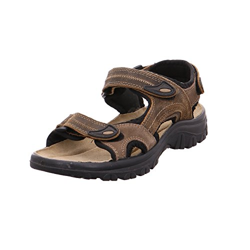 6616 Marco Tozzi Herren Leder Trekking Sandalen braun Mocca Comb