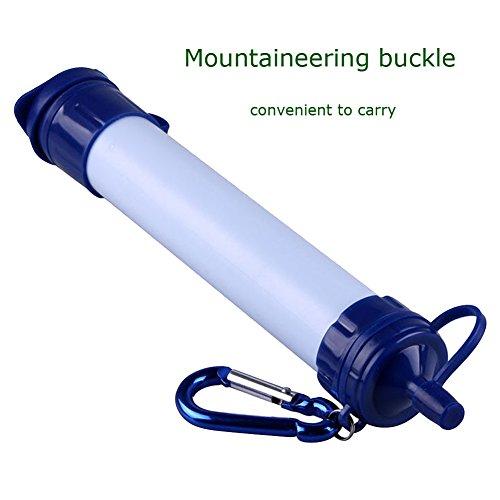 Tragbare Wasseraufbereitungssystem im Freien Überlebens -Werkzeug Notfall Camping Wandern Personal Wasserfilter mit 3-Stufen-Filtration (Chemical, BPA-frei) - 4