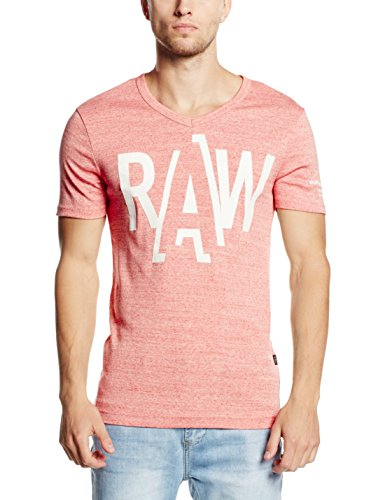 G-Star Raw -  T-shirt - Maniche corte  - Uomo rosso flame htr XL