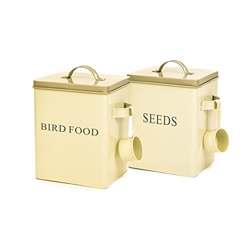 east2eden-cream-retro-vintage-double-sided-enamel-seed-dry-bird-food-storage-box-container-tin-scoop