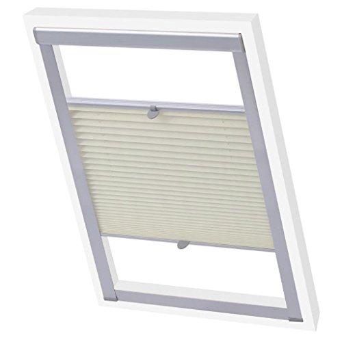 Xinglieu tapparelle tenda plissettata crema c02tende per finestre cura e pulizia: pulire con un panno umido.