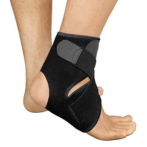 AidShunn Fußbandage mit Verstärkung Sprunggelenkbandage Knöchelschoner Knöchelstütze Kompression