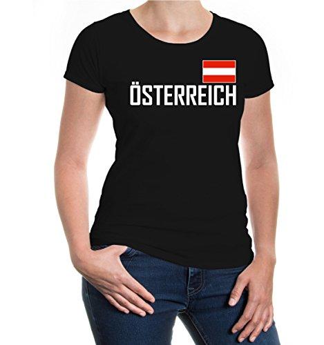 buXsbaum® Girlie T-Shirt Österreich Black-