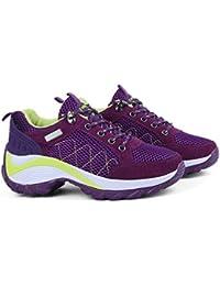 352a8d171 mogeek Zapatillas de Running EN Asfalto Aire Libre y Deportes Exterior  Plataforma Zapatillas de Deporte Para
